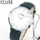 【送料無料】 CLUSE クルース La Boheme ラ・ボエーム CL18216 海外モデル レディース 腕時計 38mm ウォッチ 革ベルト レザー クオーツ カジュアル アナログ 青 ネイビー