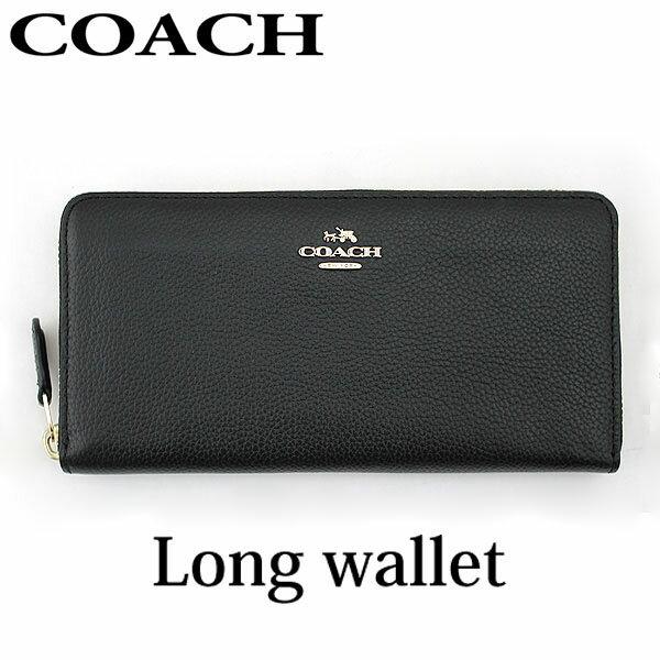 【送料無料】 COACH コーチ 53797-LINAV 53797 LINAV 海外モデル レディース 財布 黒 ブラック ウォレット 長財布 ラウンドファスナー レザー 革 誕生日プレゼント ギフト