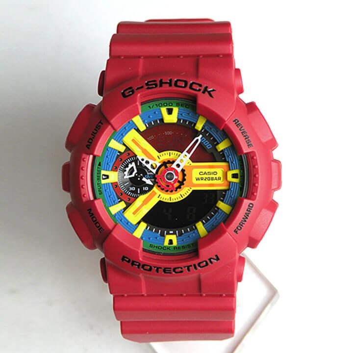 商品到着後レビューを書いて3年保証 CASIO カシオ G-SHOCK Gショック メンズ 腕時計 時計 GA-110FC-1A 海外モデル Crazy Colors クレイジーカラーズ 赤 レッド 【対応】スポーツ 誕生日 ギフト 【対応】CASIO G-SHOCK腕時計 G-SHOCK メンズ 腕時計 カシオ Gショック 海外モデル
