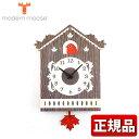 ★送料無料 modern moose モダンムース PCPEN031 9806001 掛け時計 ブラウン 壁掛け 鳩 振り子時計 バルトバーチ木材 正規品
