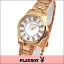 ★送料無料 プレイボーイ・バニー PLAYBOY BUNNY PB002PWH レディース 腕時計 ウォッチ クオーツ アナログ 白 ホワイト 金 ピンクゴールド