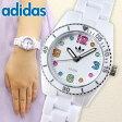 アディダス adidas originals ADH2941海外モデル 人気シリーズ BRISBANE mini ブリスベン ミニ レディース ウォッチ キッズにも 腕時計 新品 時計 白 ホワイト マルチカラー夏物 誕生日 ギフト