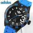アディダス adidas 腕時計 NEWBURGH ニューバーグ メンズ 腕時計 時計 カジュアル スポーツ ブランド ADH2966 海外モデル カレンダー ブラック×ブルー 青系【あす楽対応】父の日 ギフト