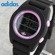★送料無料 adidas アディダス CALGARY カルガリー ADH2986 海外モデル メンズ レディース 腕時計 シリコン ラバー バンド クオーツ デジタル 黒 ブラック ピンク