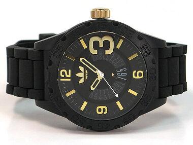 adidasアディダスNEWBURGHニューバーグADH3011海外モデルメンズ男性用腕時計ウォッチカジュアル黒ブラック金ゴールド