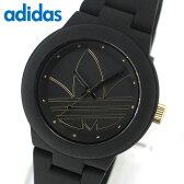 ★送料無料 アディダス adidas originals ADH3013 アバディーン ABERDEEN ユニセックス レディース 腕時計時計 ペア黒 ブラック ゴールド P01Jul16