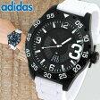 ★送料無料 adidas アディダス NEWBURGH ニューバーグ ADH3136 メンズ 腕時計 ウォッチ カジュアル 黒 ブラック 白 ホワイト シリコン バンド