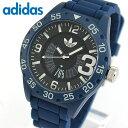 adidas アディダス originals オリジナルス NEWBURGH ニューバーグ メンズ 腕時計 ウォッチ 防水 カジュアル 黒 ブラック 青 ブルー シリコン バンド ADH3141 誕生日プレゼント 男性 ギフト