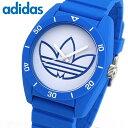 adidas アディダス サンティアゴ ADH3196 海外モデル メンズ レディース 腕時計 男女兼用 ユニセックス シリコン ラバー バンド クオーツ カジュアル アナログ 白 ホワイト 青 ブルー 誕生日プレゼント 男性 女性 ギフト