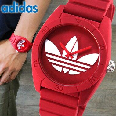 アディダスadidas腕時計時計ペアウォッチサンティアゴSANTIAGOADH6168レッドメンズレディースユニセックス腕時計ウォッチ海外直輸入品【楽ギフ_包装】母の日父の日