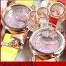 Alessandra Olla アレッサンドラオーラ AO-4110-3 AO4110-3 レディース 腕時計 時計 ファッション ピンクゴールド ハート型チャームつき 選べる11色 カラフル レザー バンド夏物 誕生日 ギフト