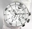 ★送料無料 EMPORIO ARMANI エンポリオアルマーニ メンズ 腕時計 時計 AR1424海外モデル 白 ホワイト セラミック 光沢 クロノグラフ カレンダー ブランド ラグジュアリー贈り物