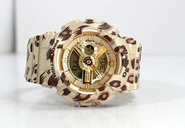 商品到着後レビューを書いて3年保証CASIOカシオBaby-GベビーGレオパードシリーズBA-110LP-9A海外モデルレディース腕時計ブラウンベージュ茶夏物誕生日ギフト