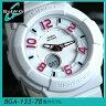CASIO カシオ Baby-G ベビーG レディース 腕時計 BGA-133-7B 海外モデル ネオンダイアルシリーズ 白 ホワイト ピンク