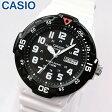 【3ヶ月保証】専用BOXなし CASIO チープカシオ チプカシ スタンダード MRW-200HC-7B 海外モデル メンズ 腕時計 時計 クオーツ アナログ ホワイト ブラック 白 黒秋 コーデ 誕生日 ギフト