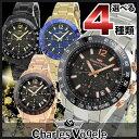 【送料無料】Charles Vogele シャルルホーゲル クロノグラフ セラミックベゼル メンズ 腕時計 ウォッチ 誕生日プレゼント ギフト