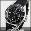 【送料無料】Charles Vogele シャルルホーゲル ダイバーズデザイン CV-9085-3 メンズ 腕時計 ウォッチ 黒 ブラック 誕生日プレゼント ギフト