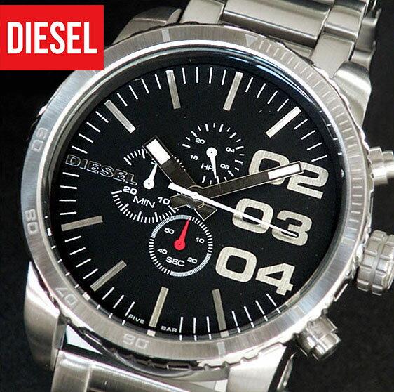 ★送料無料 ディーゼル 時計 メンズ DIESEL ディーゼル腕時計 DZ4209海外モデル 新品 カジュアル ブランド ウォッチ 人気 ブラック文字板 メタルバンド ビックフェイス クロノグラフ