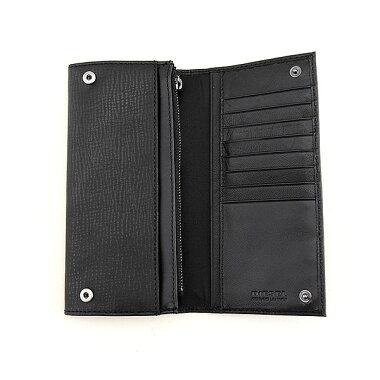 DIESELディーゼル財布X03455-P0685-T8013並行輸入品メンズ長財布黒ブラック本革レザーブラックギフトプレゼント