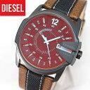 ディーゼル 時計 DIESEL メンズ 腕時計 新品 DZ1600 海外モデル DIESEL マスターチーフ 黒 ブラック レザーバンド イタリアブランド カジュアル ウォッチ DIESEL ディーゼル ブルーガラス リューズガード付き カレンダー夏物 誕生日 ギフト