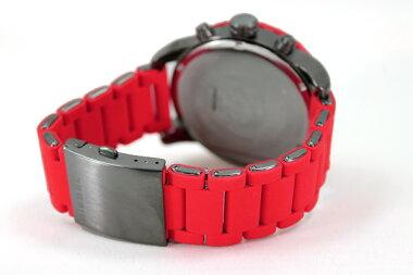 DZ4289海外モデルディーゼル時計DIESELFranchiseSeriesフランチャイズシリーズシリコン×ブラックIPメンズ腕時計ファッショナブルウォッチ【楽ギフ_包装】【%OFF】【円】【RCP】