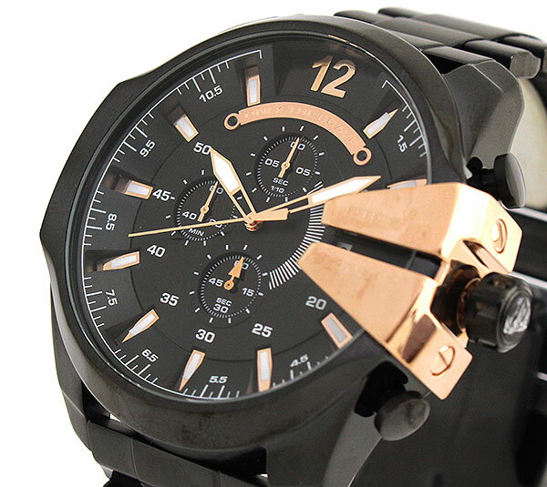 diesel dz4309 xxl herrenuhr mega chief chronograph neu ebay. Black Bedroom Furniture Sets. Home Design Ideas
