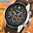 ★送料無料 FOSSIL フォッシル CH2891 海外モデル メンズ 腕時計 ウォッチ 革バンド レザー クオーツ アナログ 黒 ブラック 茶 ブラウン