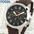 ★送料無料 FOSSIL フォッシル FS4813 海外モデル メンズ 腕時計 ウォッチ 革バンド レザー クオーツ アナログ 黒 ブラック 茶 ブラウン