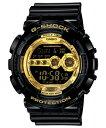 ★送料無料 CASIO カシオ G-SHOCK Gショック ジーショック GD-100GB-1JF 国内正規品 Black×Gold Series ブラック×ゴールドシリーズ 黒 メンズ 腕時計 時計
