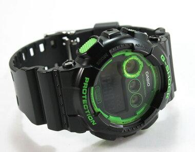 CASIOカシオbigcaseビッグケースGD-120N-1B3メンズ腕時計新品男性用時計ウォッチスーパーイルミネーター海外モデルグリーンブラック黒【楽ギフ_包装】