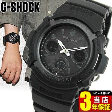 【CASIO】カシオ【G-SHOCK】GショックAWG-M100B-1A海外モデルFIREPACKAGEファイヤーパッケージタフソーラー電波時計マルチバンド6時分針を一時的に移動させる針退避機能付き【楽ギフ_包装】メンズ腕時計