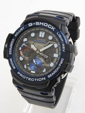 CASIOカシオG-SHOCKジーショックGulfmasterSeriesガルフマスターシリーズGN-1000B-1A海外モデルメンズ男性用腕時計ウォッチ黒ブラック青ブルー