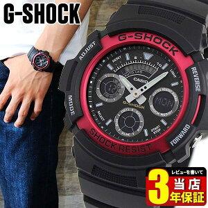 CASIO カシオ G-SHOCK Gショック アナログ 赤 レッド 黒 ブラック 多機能 防水 時計 スポーツ メンズ 腕時計 アナデジ AW-591-4A ジーショック 商品到着後レビューを書いて3年保証 誕生日プレゼント 男性 ギフト