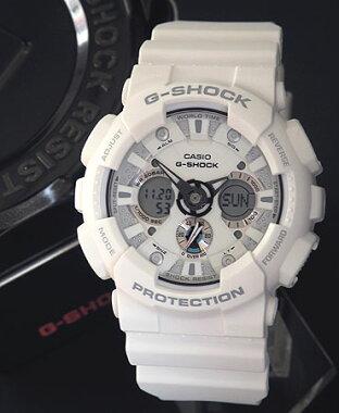【CASIO】カシオ【G-SHOCK】GショックGA-120A-7Aホワイト海外モデルアナデジコンビネーション迫力のあるビッグフェイスメカニカルなデザイン【腕時計】【楽ギフ_包装】(沖縄・島嶼部は送料無料対象外地域)