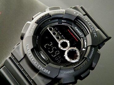 カシオ【CASIO】G-SHOCKGショックGD-100-1BDRブラック高輝度LEDバックライト装備!メンズウォッチ海外モデル(北海道・沖縄・離島は送料無料対象外地域)