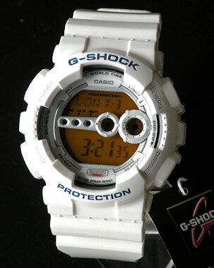 CASIOカシオGショックG-SHOCKメンズ腕時計時計GD-100SC-7白ホワイトクレイジーカラーズ高輝度LEDバックライト【RCP】
