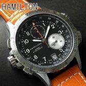 ★送料無料 ハミルトン HAMILTON メンズ 腕時計 時計 カーキE.T.O Khaki ETO H77612933 レザー 革バンド オレンジ クロノグラフ 海外モデル夏物 誕生日 ギフト