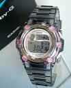Clock watch for watch [BABY-G] Lady's watch women for CASIO Casio Baby-G baby GReef leaf BG-3000-8 gray skeleton women