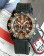 ★送料無料 LUMINOX ルミノックス3089 カラーマークシリーズ ラバー ベルト 3050シリーズクロノグラフ オレンジ クロノグラフ/Navy SEALs ネイビーシールズ ミリタリー メンズ 腕時計時計