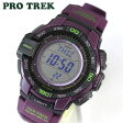 ★送料無料 CASIO カシオ PROTREK プロトレック PRG-270-6A 海外モデル メンズ 腕時計時計タフ・ソーラー タフソーラー プロトレック アウトドア パープル 紫父の日 ギフト