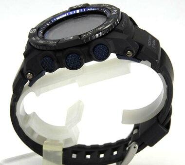 PRW-3500Y-1CASIOカシオPROTREKプロトレックメンズ海外モデル樹脂バンド多機能黒ブラック青ブルー電波ソーラー