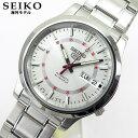 ★送料無料 SEIKO セイコー5 SNKN19K1 メンズ 腕時計 時計海外モデル 自動巻き オートマチック Automatic シルバー ホワイト 誕生日 ...