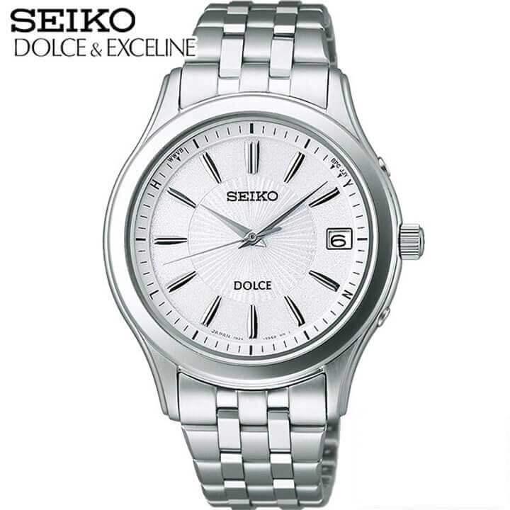 セイコー ドルチェ&エクセリーヌ 腕時計 SEIKO DOLCE & EXCELINE メンズ ソーラー電波 SADZ123 国内正規品 ウォッチ メタル バンド 白 ホワイト シルバー 誕生日プレゼント 男性 ギフト