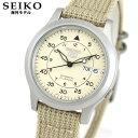 SEIKO 5 セイコー ファイブ SNK803K2 アナログ ベージュ デイデイト 自動巻き ナイロンベルト 腕時計 ミリタリー メンズ ウォッチ 逆輸入 誕生日 男性 50代 60代 70代 父の日 ギフト プレゼント