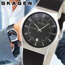 【送料無料】スカーゲン SKAGEN 腕時計 233XXLSLB 北欧デザイン レザーベルト 時計 メンズ ブランド 海外モデル ブラック 黒 北欧デザイン 誕生日プレゼント 男性 ギフト
