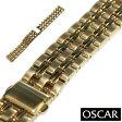 【バンビ】OSCAR(オスカー) メタルブレス ゴールド 金属ベルト 時計ベルト02P03Dec16