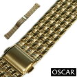 【バンビ】OSCAR(オスカー) メタルブレス ゴールド 金属ベルト 時計ベルト