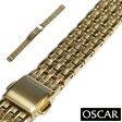 【バンビ】OSCAR(オスカー) メタルブレス ゴールド レディース 金属ベルト 時計ベルト