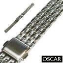 【バンビ】OSCAR(オスカー) メタルブレス シルバー レディース 金属ベルト 時計ベルト