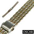 【バンビ】OSCAR(オスカー) メタルブレス コンビ レディース 金属ベルト 時計ベルト